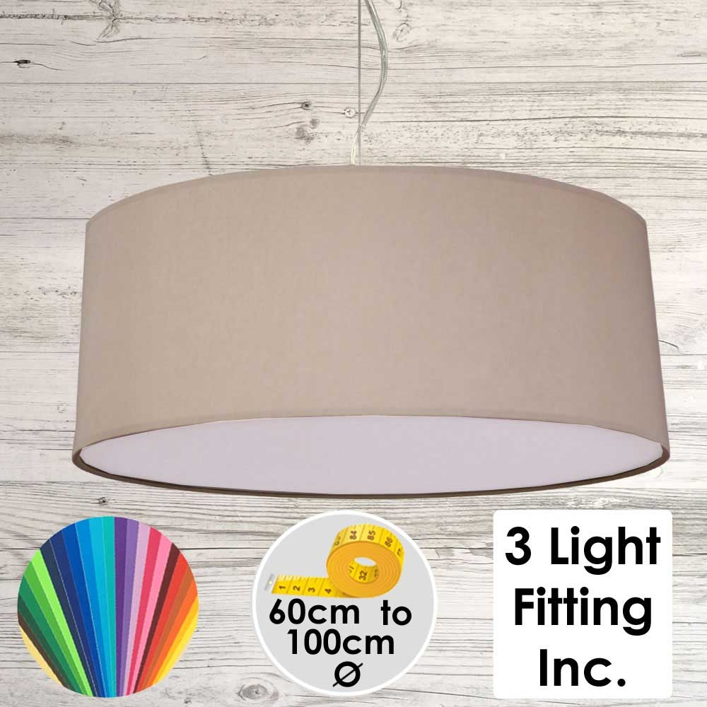 Taupe Drum Ceiling Light